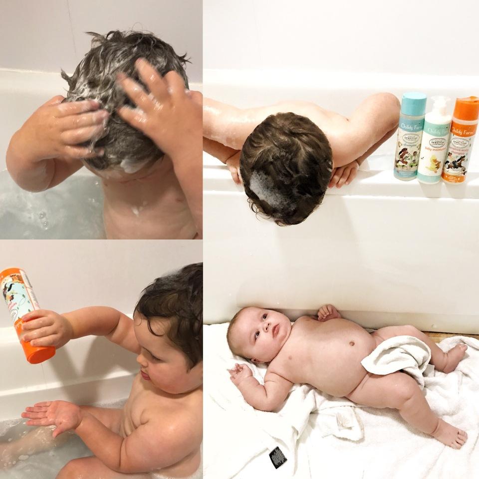 Family bath time